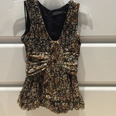 Miss Me Couture Gathered Top This top is the cutest! You are sure to get many compliments! The gathering and ruffles are gorgeous! The back has a zip closure. Only worn once and dry cleaned. Miss Me Tops Blouses