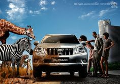 Funny Double Meaning Print Ads of Toyota 2 Sides. Advertisement Examples, Creative Advertising, Advertising Poster, Advertising Ideas, Ads Creative, Creative Posters, Advertising Design, Advertising Campaign, Creative Ideas