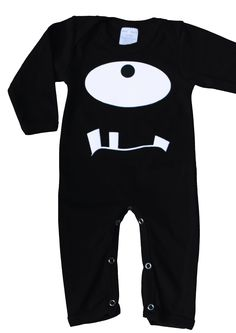 Cheeky Monster Cool Baby Sleepsuit, Black Children's Fashion -