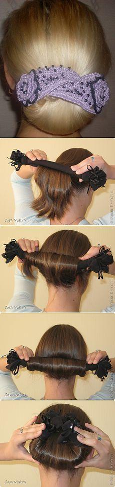 Вяжем СОФИСТ ТВИСТ- приспособление для укладки волос.