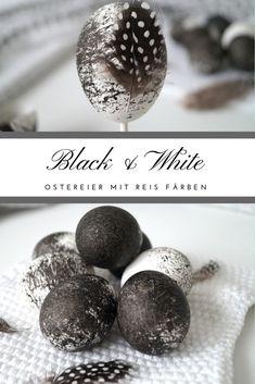 Bunte Ostereier und viele Farben auf einem Fleck - irgendwie charakteristisch für Ostern, oder? Aber warum nicht mal anders machen, so wie ich in diesem Jahr. Ich habe nämlich schwarze #Ostereier gemacht. Mit #Reis und schwarzer Tinte gibt dies einen tollen Effekt auf eurem #Ei. Das könnt ihr als #Dekoration zu #Ostern auf den Tisch legen oder in einer Vase dekorieren. Das #Eierfärben geht ganz einfach und schnell. Ich zeige es euch in meinem #DIY