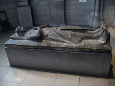 Tomb Effigy of Jean d'Alluye in the Cloisters