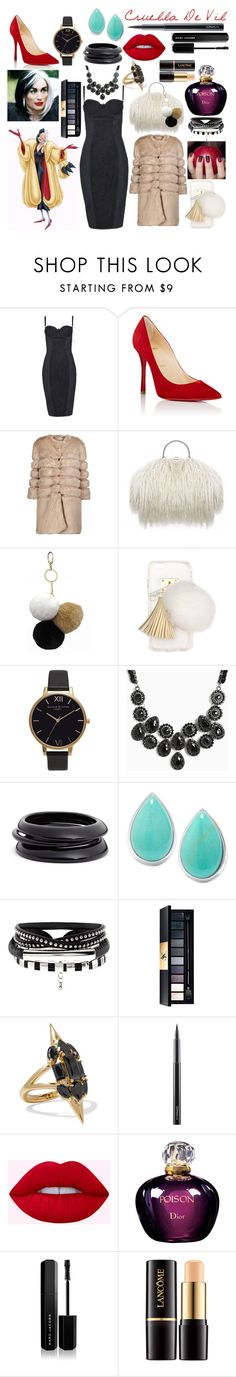 """""""Favorite Character Contest Entry!"""" by sisibff ❤ liked on Polyvore featuring Dolce&Gabbana, Christian Louboutin, AINEA, Under One Sky, Ashlyn'd, Olivia Burton, Torrid, ZENZii, Noir Jewelry and MAC Cosmetics"""