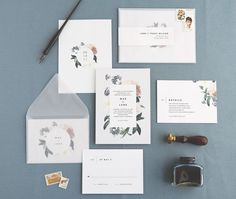 Mae Wedding Invitation & Correspondence by rachelmarvincreative