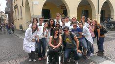 Foto di semi-gruppo a Pavia #italy4science (l'altra metà si era già fiondata sulla piada)