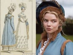 """Charlotta on Instagram: """"🔹Emma🔹 A lot of Emma's costunes can be seen drawing inspiration from fashion plates. Fashion plates were used from late 18th century to up…"""" Period Movies, Period Dramas, Emma Movie, Emma Woodhouse, Emma Jane Austen, Fashion Communication, Anya Taylor Joy, Tonne, Movie Costumes"""