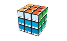 The color nerd in me loves this… a lot!  (via Rubitone, A Pantone Color Rubik's Cube)
