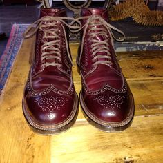 Alden shell cordovan colour 8 wingtip boots