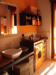 MOBILE LAVATRICE Laundry In Bathroom, Small Bathroom, Small Washing Machine, Rose House, Machine Design, Interior Inspiration, House Design, Interior Design, Toilets