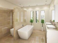 Travertine bathroom 3 - copyright WHO Bathroom Warehouse