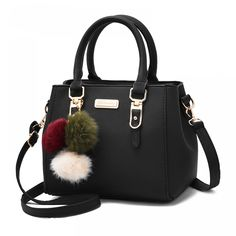 Cheap brand shoulder bag, Buy Quality shoulder bags directly from China crossbody shoulder bag Suppliers: brand women hairball ornaments totes solid sequined handbag hotsale party purse ladies messenger crossbody shoulder bags Burberry Handbags, Hobo Handbags, Black Handbags, Purses And Handbags, Leather Handbags, Leather Bag, Ladies Handbags, Hobo Purses, Luxury Handbags