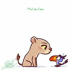 Chibies of Disney's Nala & Zazu