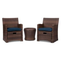 Halsted 5-Piece Wicker Small Space Patio Furniture Set - Threshold™ : Target--$335