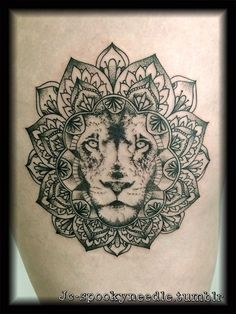 lion in mandala - Google Search