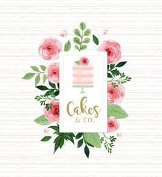 Pre-made Logo Design Bakery Cake Business by TinkStudio on Etsy