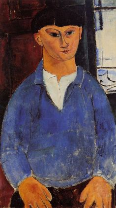 Portrait of Moise Kisling by Amedeo Modigliani #art