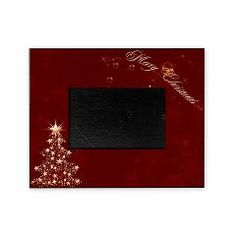 Red Golden #Christmas #Picture #Frame