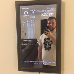 Smart mirror coded and made with raspberry pi search for tutorials on how to make it online! . . . . #coderlegion #code #coding #coder #programming #java #programmer #developer #python #html #css #javascript #hackathon #worldcode