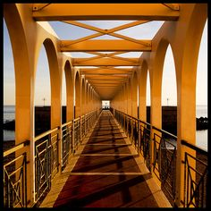 """Ponte stretto"" - photo by DanielaNobili, via Flickriver;  in Civitavecchia, Lazio, Italy"
