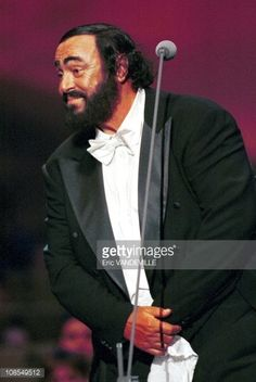 Luciano Pavarotti in Modena, Italy  for concert 'Pavarotti & Friends', on June 1st, 1999.