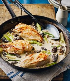 Raymond Blanc's chicken with morel mushrooms and wine sauce