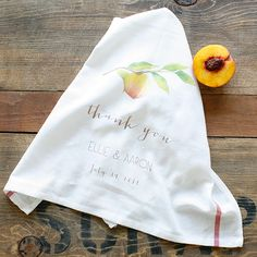 thank you napkins for your guests. great favor, no?  custom wedding napkins | the wedding chicks