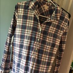 J.CREW Flannel Women's Shirt J.Crew Women's Flannel with three buttons J. Crew Tops Button Down Shirts