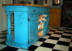 10 DIY Kitchen Island Woodworking Plans: Farmhouse Kitchen Island Plan from Ana White
