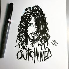 RIP Chris Cornell, drawn by Skottie Young Say Hello To Heaven, The Jersey Devil, Notebook Sketches, Young Art, Skottie Young, Chris Cornell, Character Art, Ink, Scottie
