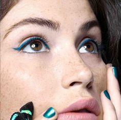 Gemma Arterton - Sabine Villiard - 2013 www.lisaeldridge.com #LisaEldridge #makeup #beauty #GemmaArterton #blue
