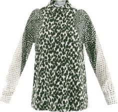 By combining the core prints of her SS13 collection; this Stella McCartney blouse acts as a sartorial 'best of' – showcasing the designer's innate talent of producing masculine-inspired pieces every woman is sure to crave.