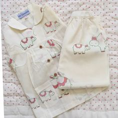 Hand block printed 3 - 4 years (Mamma Hippo and baby hippo) Valentine's Day Outfit, Outfit Of The Day, Cotton Pyjamas, Pajamas, Baby Hippo, Girls Coming Home Outfit, Pajama Shirt, 6 Years, Organic Cotton