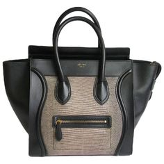 2978ea825dbe CELINE Luggage Micro in Black Leather and Lizard Celine Luggage