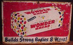 Vintage Metal Bread Signs | vintagebread.com - Wonder Bread Sign