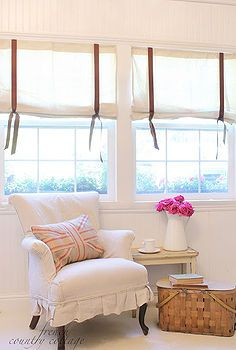 FRENCH COUNTRY COTTAGE: Simple Burlap Drapes – Home Decor