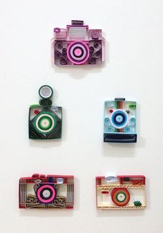 Paper+quilling+Camera+collection+by+Hyvoky+on+Etsy