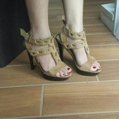 Wild Pair Sexy heels Sz 5.5 Pre owned in good condition. Heels look really good. I wear always a size 5 but this pair fits perfectly. I'll be happy to answer questions. Please check my other listings. Thank you Wild Pair Shoes Heels