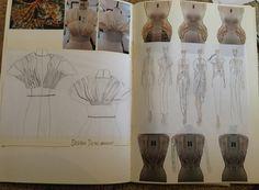 Fashion Sketchbook - fashion design drawings & draping experiments; fashion portfolio // Hana Rutledge