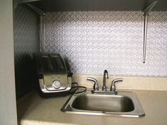 51 best faux tin backsplashes images metal tins backsplash panels rh pinterest com