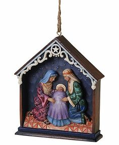 Jim Shore Christmas Ornament, Nativity Scene