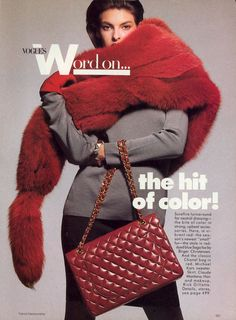 Vogue US (1988) Linda Evangelista by Patrick Demarchelier