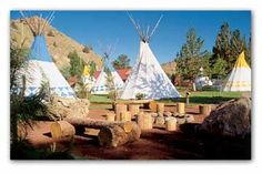 Kahneeta, Warm Springs, OR. The kids loved staying in a teepee!