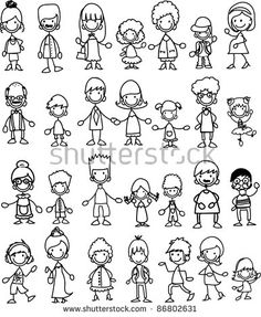 Doodle members of large families