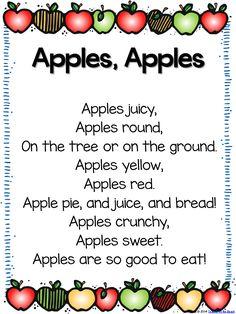 Apple Week Fun – with Freebies! Apple Week Fun – with Freebies! Preschool Apple Theme, Fall Preschool, Preschool Songs, Preschool Curriculum, Preschool Lessons, Kids Songs, Preschool Apples, Apple Activities Kindergarten, Spring Activities