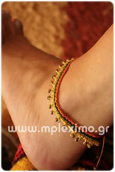 πλεκτά βραχιόλια για το πόδι, crochet anklets from mpleximo.gr