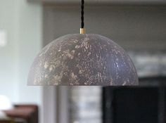 Modern Dome Metal Shade Hanging Pendant Light by mysecretlite