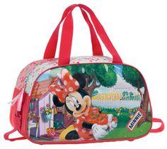 Bolsa de Viaje infantil Minnie de  Disney de la colección Strawberry con medidas 44x25x22 cm