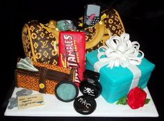 Louis Vuitton cake and accessories by Keipard