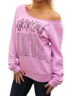 Crazy Love Flashdance Off the Shoulder Fleece  $50.00  http://www.junkfoodclothing.com/webapp/wcs/stores/servlet/Product1_10052_10051_-1_24173_10552_20680