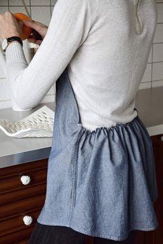 DIY kuchyňská zástěra z pánské košile